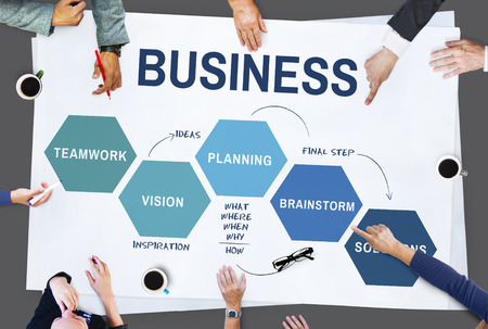 planning strategy: Business Strategy Vision Planning Concept