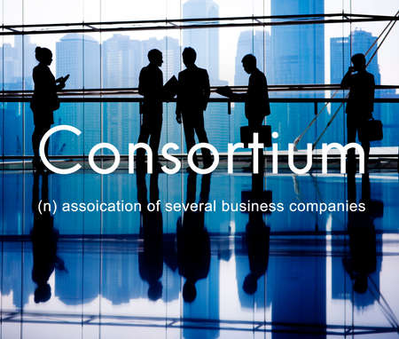 affiliation: Consortium Alliance Combine Cooperative Group Concept Stock Photo