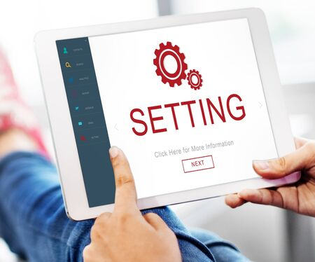 electronic device: Settings Electronic Device Homepage Concept