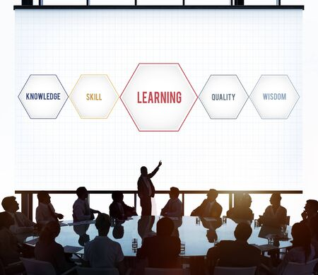 Learning Success Training Development Geometric Graphic Stock Photo