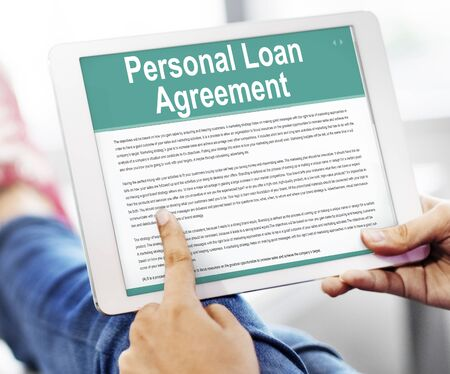 Personal Loan Agreement Banking Credit Contract Concept Stock Photo