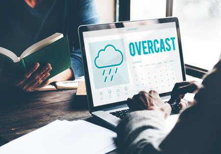 overcast: Overcast Forecast Weather Rainy Cloud Concept