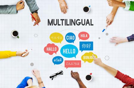 Communication Foreign Languages Greeting Worldwide Concept Foto de archivo