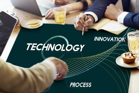 Technology Process Innovate Network Data Concept Stock Photo