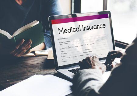 Medical Insurance Helth Form Concept