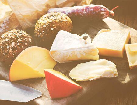 Cheese Assortment Dairy Milk Flavor Nutrition Concept