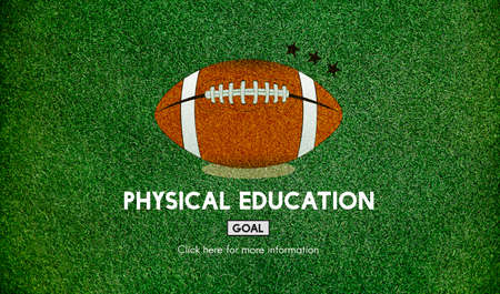 quarterback: Quarterback Physical Education Rugby Sport Concept Stock Photo