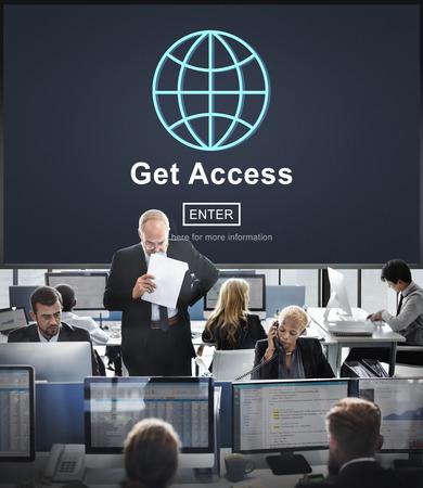 availability: Get Access Attainable Availability Concept Stock Photo