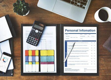 personal information: Personal Information Data Application Form Concept Stock Photo
