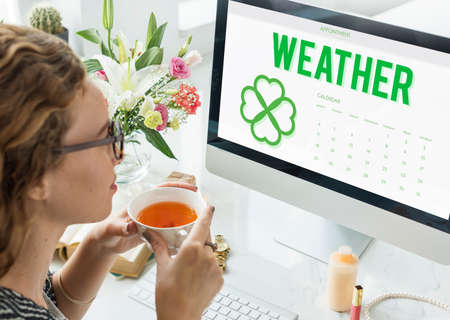 appointment: Spring Break Weather Planner Concept Stock Photo