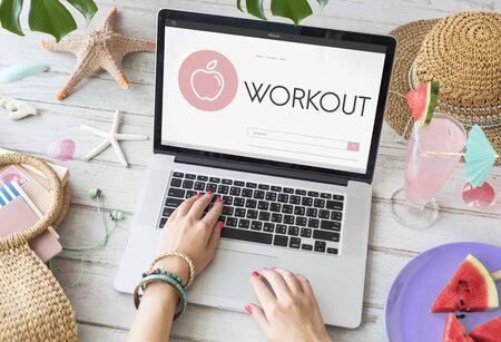 weight loss plan: Health Wellness Diet Exercise Organic Concept