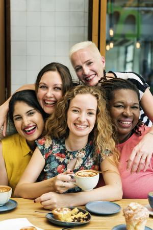 Diversity Women Socialize Unity Together Concept Archivio Fotografico