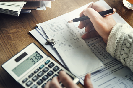 Calculation Financial Budget Count Tax Vat Wage Concept Stock Photo
