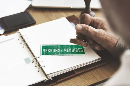 required: Response Request Required Feedback Information Concept Stock Photo