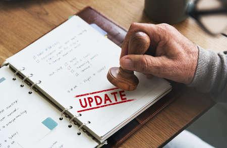 Update Development Fixed Forward Modern Better Concept Stock Photo