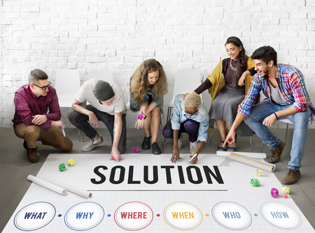finding: Solution Problem Solving Share Ideas Concept
