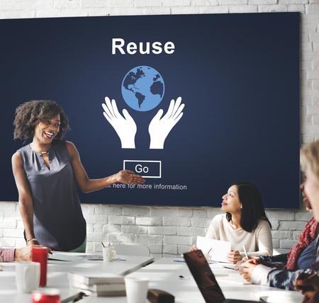 ecosistema: Recycle Reuse Reduce Ecosystem Environment Concept
