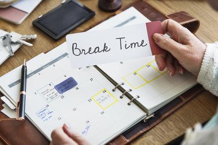 loosen up: Break Time Relaxation Recess Cessation Loosen Up Getaway Concept Stock Photo