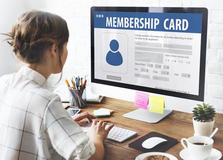 Authorization Membership Card Identification Data Information License Concept