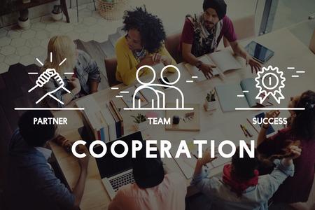 corporation: Business Collaboration Teamwork Corporation Concept Stock Photo