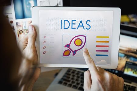 Ideas concept in a digital tablet