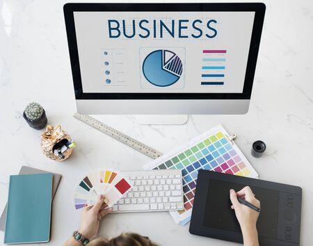 Business Data Analysis Presentation Information Concept