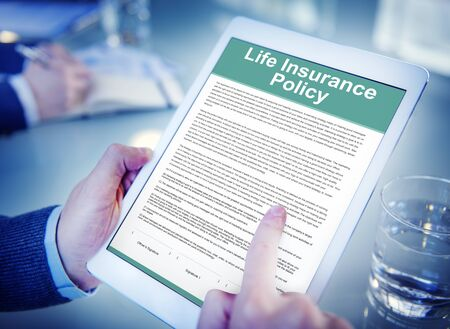 insurance policy: Life Insurance Policy Terms of Use Concept