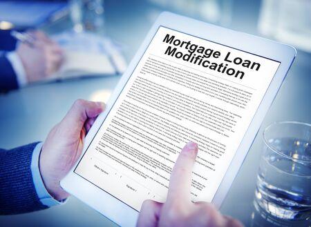 Mortgage Loan Request Modification Document Concept Reklamní fotografie