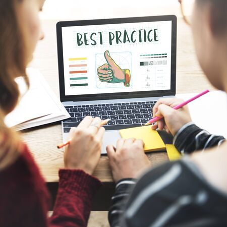procedure: Best Practice Thumbs Up Approval Concept Stock Photo