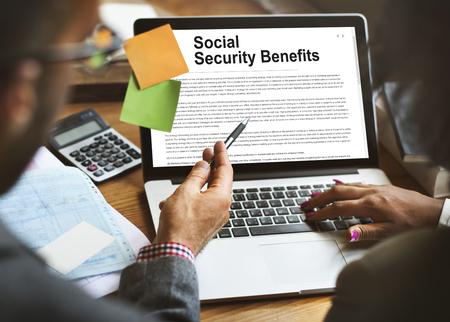 Beneficios de Seguridad Social Concepto Acuerdo Foto de archivo - 63267441
