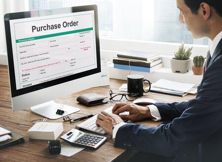Ordine di acquisto Modulo Busta paga Concetto