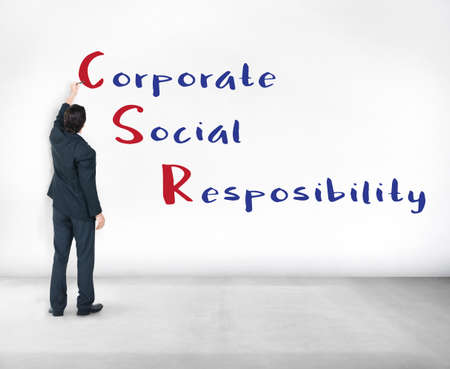 corporate social: Corporate Social Responsibility Meeting Concept Stock Photo