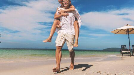 romance: Couple Romance Beach Love Island Concept