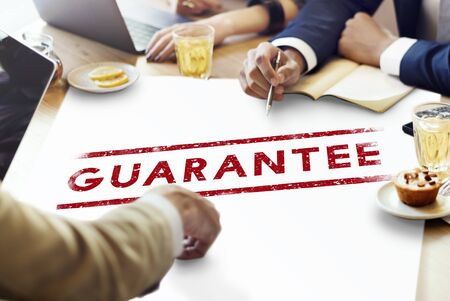Guarantee Assurance Certified Quality Trustworthy Concept