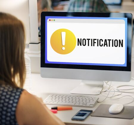 notification: Notification Alert Exclamation Point Graphic Concept