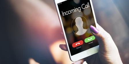 Eingehender Anruf Communication Connect Konzept Standard-Bild - 63307525