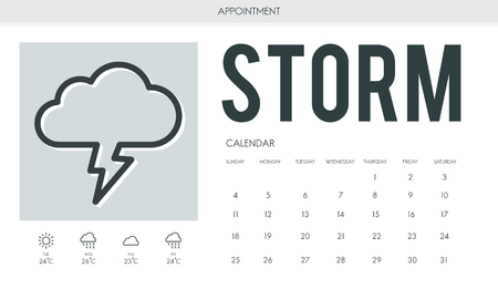 overcast: Forecast Overcast Weather Report Concept