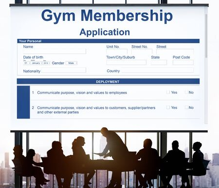 Gym Membership Application Images & Stock Pictures. Royalty Free ...