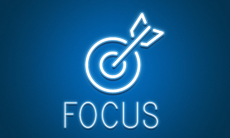 aspirational: Target Goals Aim Aspiration Focus Vision Graphic Concept