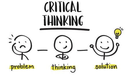 critical thinking: Critical Thinking Creative Brainstorm People Concept