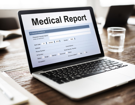 medical record: Medical Record Report Healthcare Document Concept