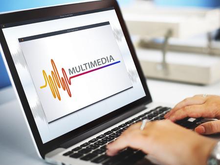 オンライン音楽マルチ メディア エンターテイメント サウンド コンセプト