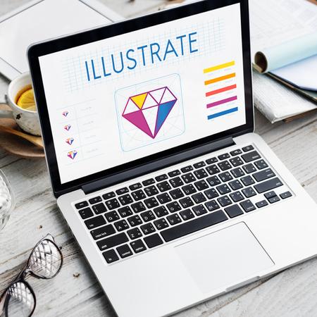 diamond candle: Design Style Graphic Creativity Ideas Illustration Concept