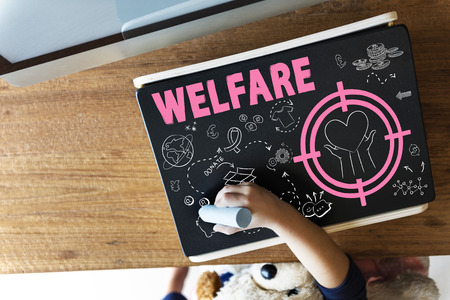 welfare: Donations Foundation Giving Help Welfare Charity Concept Stock Photo