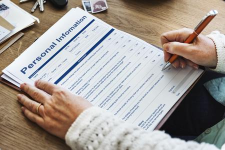 Información Personal Data Concepto formulario de solicitud