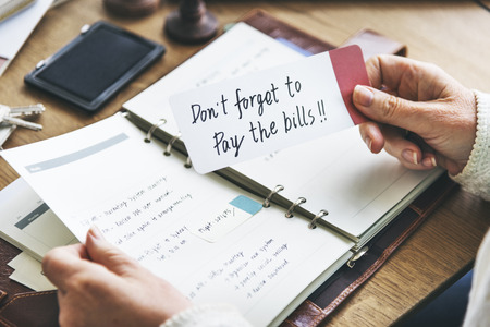 organize: Bills Appointment Checklist To-do Organize Concept Stock Photo