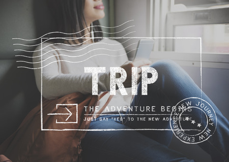 wanderlust: Travel Holiday Wanderlust Trip Concept Stock Photo