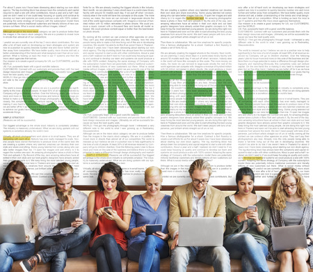 fulfilled: Content Data Internet Media Sharing Cheerful Concept