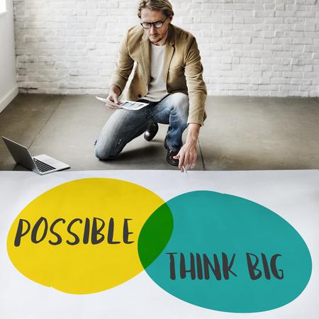think big: Possible Think Big Leadership Ideas Motivation Concept