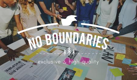 boundaries: No Boundaries Global Business World Economics Concept